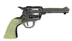 Biker 048-H 9MM Hand Gun Pistol Embroidered Iron On Patch