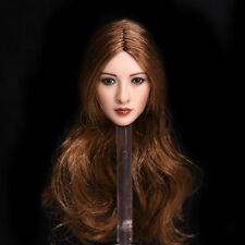 """1/6 Scale Asian Brown Wig Head Sculpt Model For 12"""" Female JIAOUDO Phicen Bod"""
