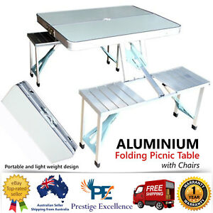 Outstanding Details About Aluminium Folding Portable Picnic Outdoor Camping Table 4 Chairs Set Bbq Party Download Free Architecture Designs Scobabritishbridgeorg