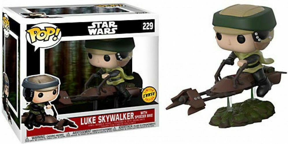 Funko Pop  49a Star Wars Luke Skywalker with Speeder Fahrrad Figurine Chase  229