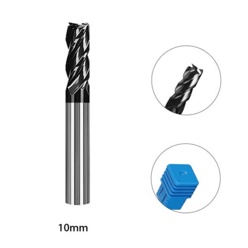 4 Flute Solid Carbide End Mill Tungsten Steel Milling Cutter Tool Kit 1-12mm
