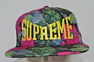 b7f9aed44b77c Supreme New York SS18 Floral 5-Panel Black Snapback Hawaiian 100 ...