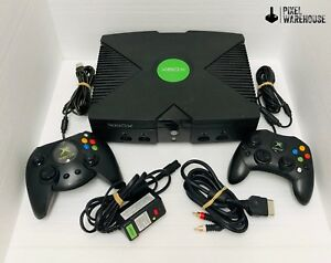 Original-Microsoft-Xbox-Console-Bundle-Controller-Clean-amp-Tested-FREE-SHIPPING