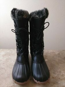 81bbb2ac7c704 Yuu Fiona Women s Black Cold Weather Mid-Calf Boots SIZES 10M
