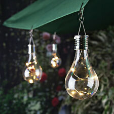 Waterproof Solar Rotatable Outdoor Garden Camping Hanging LED Light Bulb  Lamp