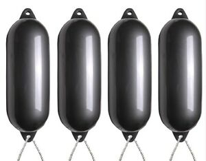 Inflated - Size1 2 X Majoni Anthracite Boat Fenders Free Rope