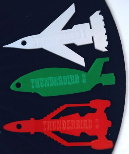 Gift, 2 or 3 Keyring Laser Cut /& Engraved Perspex  Thunderbirds 1 Novelty