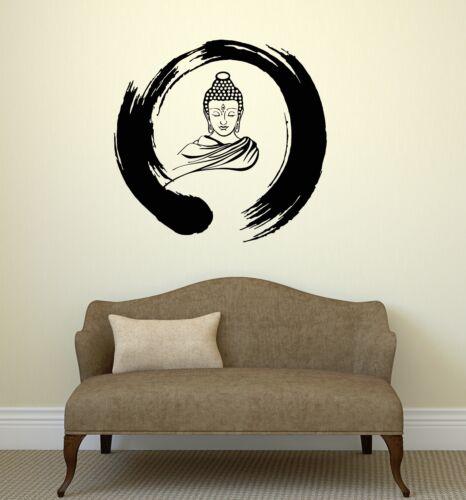 ig3036 Wall Decal Zen Circle Buddha Buddhism Meditation Vinyl Stickers