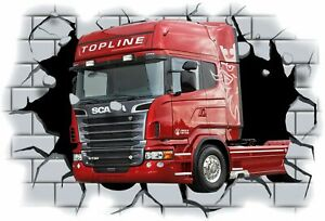 Huge-3D-Scania-Truck-Crashing-through-wall-View-Wall-Sticker-Mural-Decal-Film-45