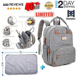 Diaper-Bag-Backpack-RUVALINO-Large-Multifunction-Travel-Back-Pack-Maternity-Baby