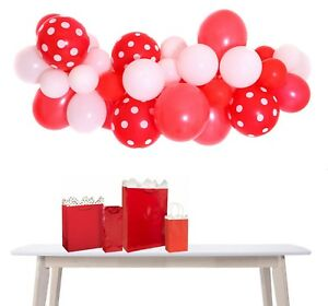 Red-amp-White-Football-Party-Balloon-Cloud-Garland-Making-Kit-No-Helium-Required