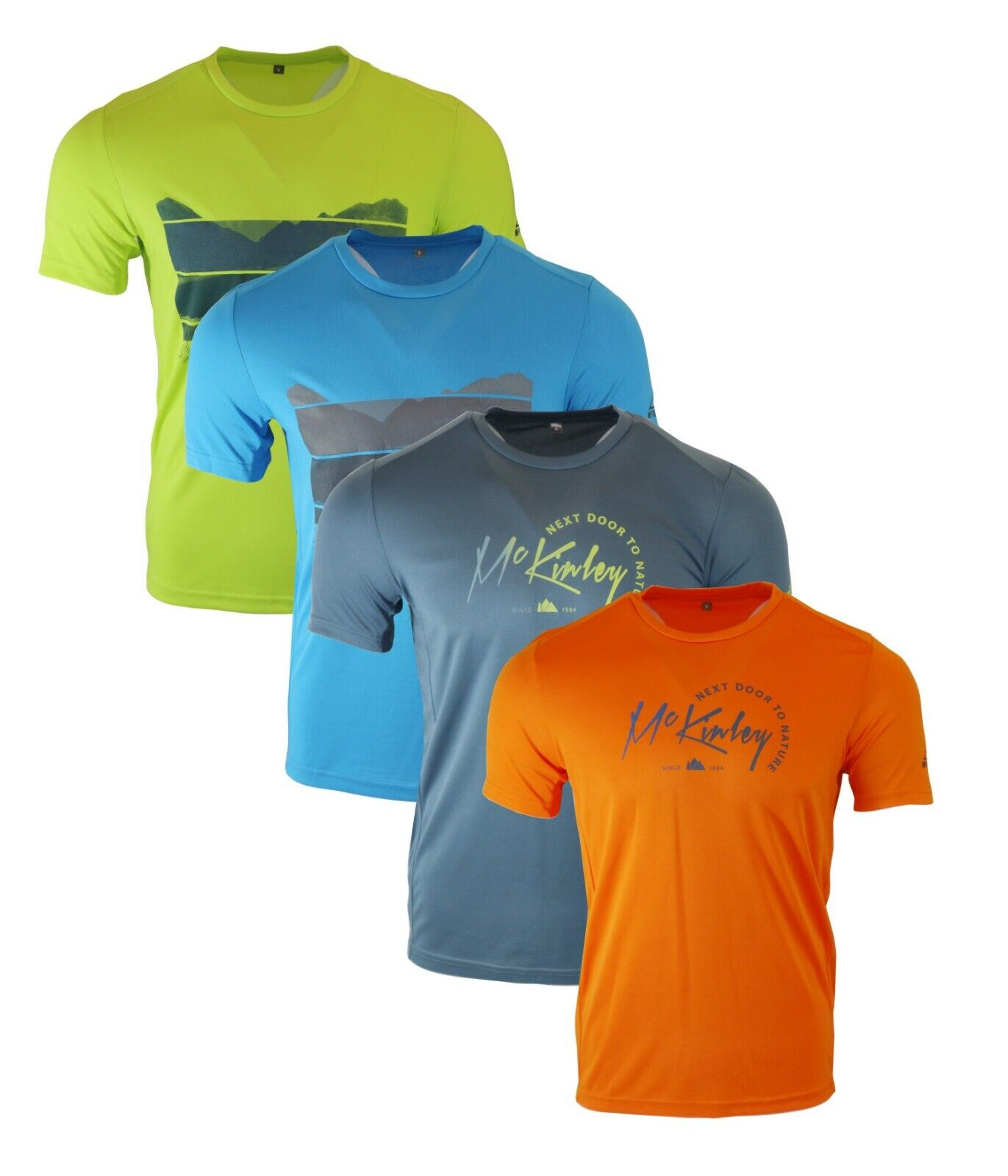 Mens Mc Kinley Active Athletic Fitness T Shirt Running Gym Sports Cool dry Tee