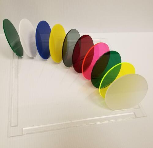 "TRANSLUCENT GREEN ACRYLIC PLEXIGLASS 1//8/"" PLASTIC SHEET CIRCLE DISC 6/"" DIAMETER"