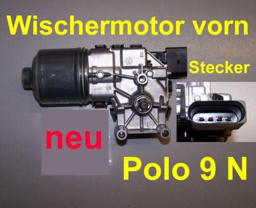 Wischermotor vorne VW POLO 9N 9 N 1,4 1,9 TDI NEUWARE