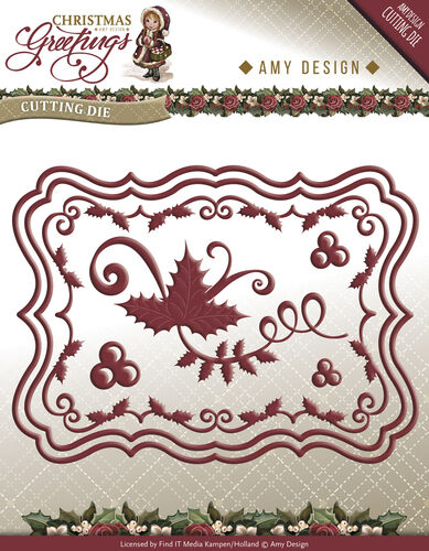 Amy Design Christmas Greetings Card Set Cutting /& Embossing Die  ADD10066