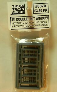 "12 Scale 30 x 62/"" Tichy Train Group HO #8025 Windows Double-Hung pkg -- 2//2"