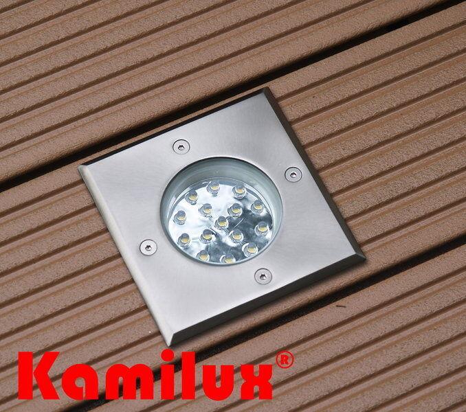 Hochwertige LED Aussenleuchte Bodenstrahler wasserfest + begehbar Bodenleuchte