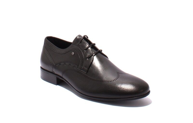 ROBERTO SERPENTINI 42909b Black Leather Lace-Up Classic shoes 41   US 8