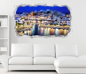 3d Wandtattoo Kreta Griechenland Blau Paradies Wand Aufkleber