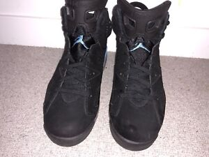 new styles 85ced a863c Image is loading Nike-Air-Jordan-6-Retro-Black-University-Blue-