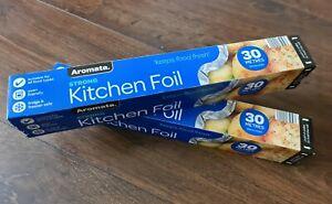 3x Extra Strong Aluminium Foil In Cutter Box 30m Each Roll Ebay