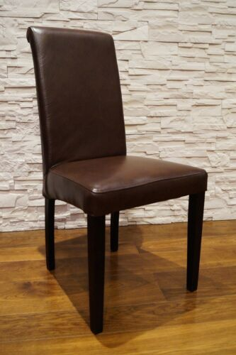 Glanz Echtleder Rindsleder Stuhl Echtes Leder stühle Lederstühle Esszimmer Stuhl