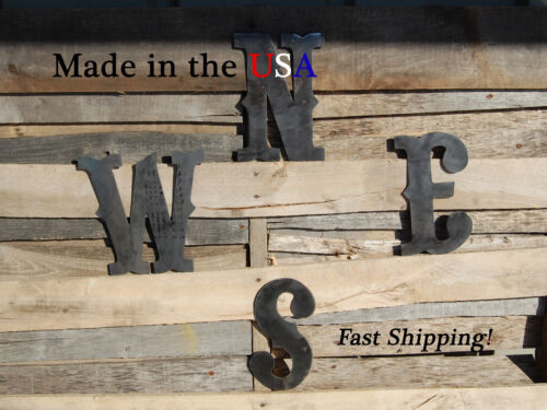 """E S 8/"""" N W Letters-Directional Letters-Compass Directions-Outdoor Art-F1004"""
