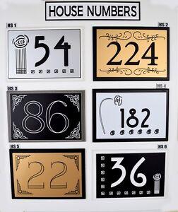 art deco rennie mackintosh modern house door number sign plaque ebay. Black Bedroom Furniture Sets. Home Design Ideas