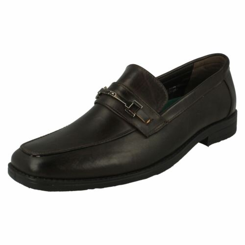 Malvern Mens Flat Slip On Shoes With Squared Toe Front
