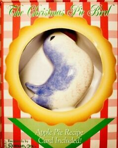 Vintage The Christmas Pie Bird by Roman Inc. Ceramic