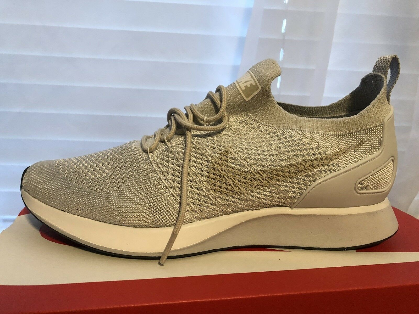 Nike Air zoom Maria Flyknit Racer Pure Platinum Dark Grey Us Size 10.5 918264011