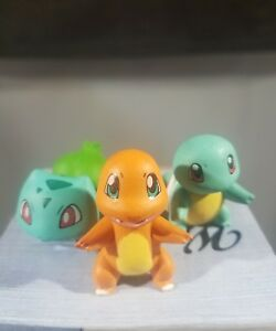 pokemon-figures-lot-chamander-squirtle-bulbasaur-1-25-inches-each-USA-seller