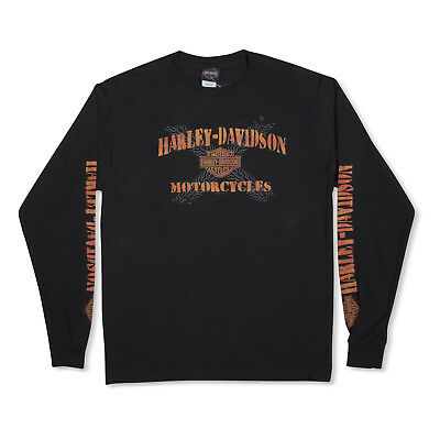 Harley-Davidson T-Shirt Biker Long Sleeves Men Woman Tel-Aviv Israel Black