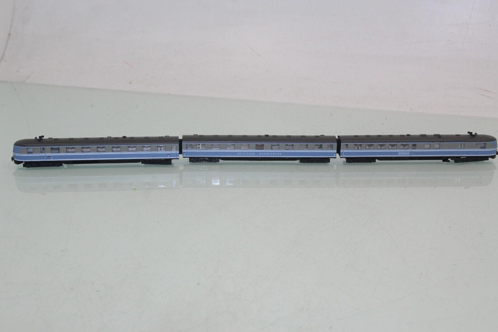 Kato N trainante carrello-treno 3tlg. SVT 06.110c della DB BLU GRIGIO (nl9020) O.
