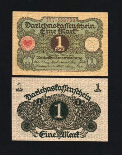 GERMANY 1 MARK P58 1920 BUNDLE WEIMAR REPUBLIC GERMAN AUNC MONEY 100 BANK NOTE