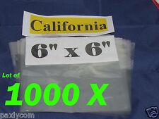Lot Of 1000 Pieces Heat Shrink Wrap Film Flat Bags 6x6 Candles Pvc 6 X 6