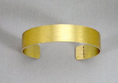 "Gold Anodized Aluminum Cuff Bracelet Blanks, 1/2"" x 6"", one dozen"