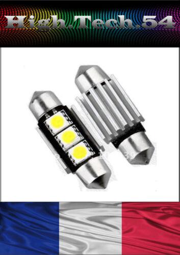 SANS ERREUR CANBUS$$ . 2 AMPOULE NAVETTE A 3 LEDs SMD C5W 36mm