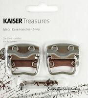 Silver Metal Case Handles, Scrapbooking Embellishments Kaisercraft, - Tm809