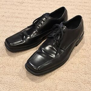 Kenneth Cole Reaction Mens Derby Dress Shoes Leather Oxford 8 Black Balance Act