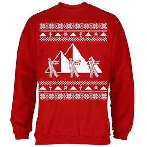 Noël Pyramid Sweatshirt De Momie Rouge Adulte Chandail tYgqgHzxw