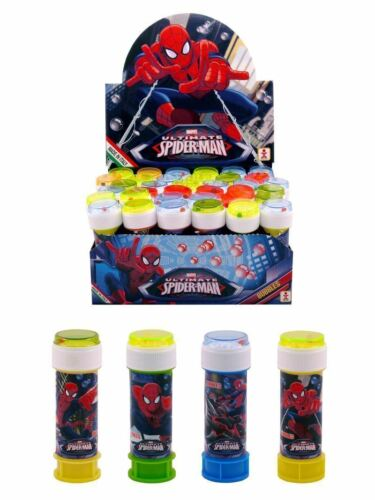 SPIDERMAN BUBBLE TUBS Kids Party Bag Filler Favors Birthday Toy Gift WAND MAZE