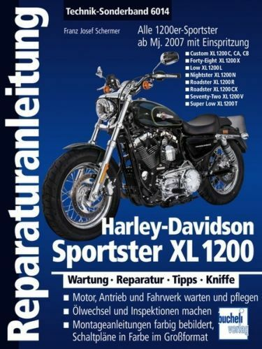 book repair manual harley davidson sportster xl 1200 xl1200 vol rh ebay com 2009 Harley Sportster 1200 Low Red and Black Harley 1200 Low