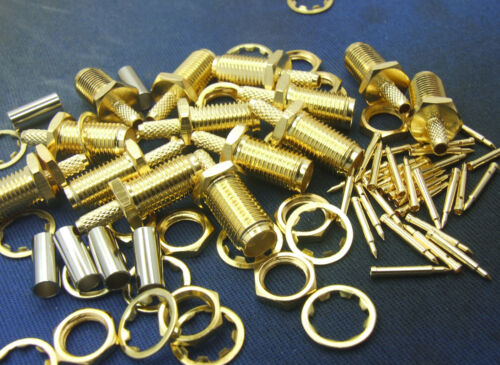 100 set RP SMA Female plug Male Pin RF Coaxial plug for RG174 RG178 RG316 Crimp
