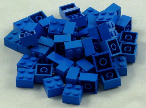 50x ®Lego Basic Basis Stein Brick 2x2 Blau Blue #3003 23