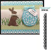 Crochet Lace Border Die Die-versions Dvw-322 Wedding Scallop