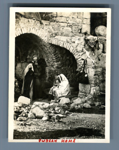 Palestine-Judean-Home-Vintage-print-Tirage-argentique-5x8-Circa-1940