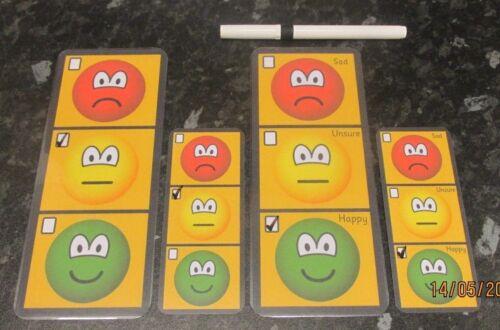 Autismo comunicação Placa de aviso de sentimentos//Com Caneta sistema de comportamento Tdah,