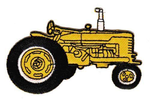 Be21 Tracteur Jaune Old Timer Tractor Écusson Application Bügelbild Patch À faire soi-même