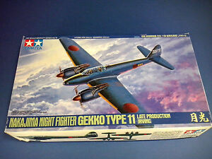 Combattant nocturne Nakajima Gekko modèle 11 (prévention récente) Tamiya échelle 1/48